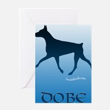Sky Blue Dobe Greeting Card