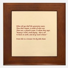 Ode to Grecian urn Framed Tile