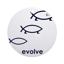 Evolve Round Ornament