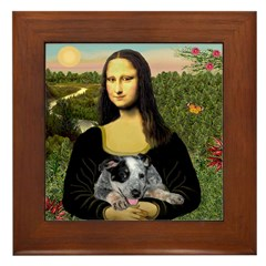 Mona's Aussie Cattle Pup Framed Tile