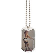 Classic Elvgren 1950s Pin Up Girl Dog Tags