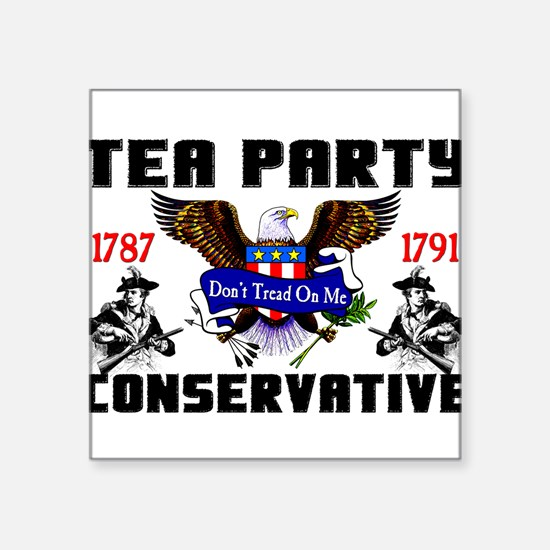 """Tea Party Conservative"" Sticker"