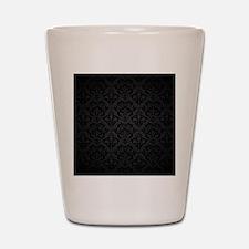 Elegant Black Flourish Shot Glass