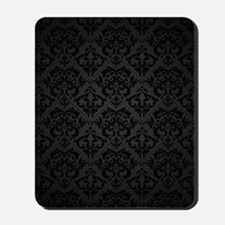 Elegant Black Flourish Mousepad