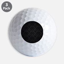 Elegant Black Flourish Golf Ball