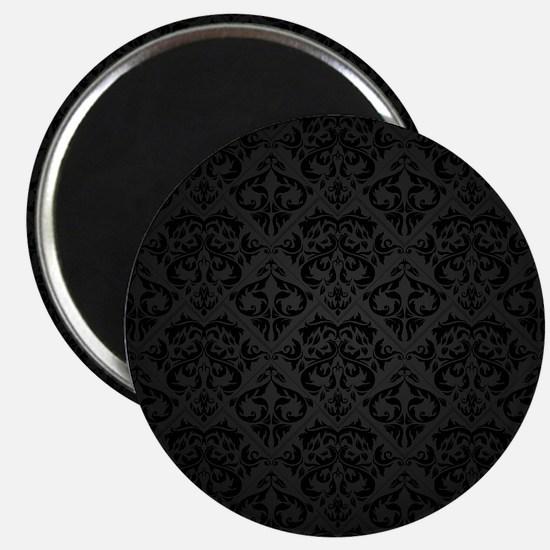 Elegant Black Flourish Magnet