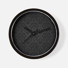 Elegant Black Flourish Wall Clock