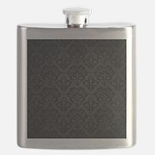 Elegant Black Flourish Flask