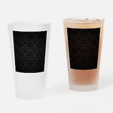 Elegant Black Flourish Drinking Glass