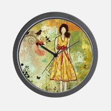 Little Birdie- Inspirational art by Jan Wall Clock