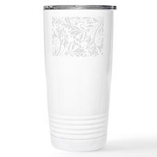 Elegant White Flourish Thermos Mug
