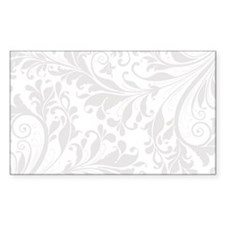 Elegant White Flourish Decal