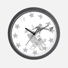 Murica Cowboy and Eagle Wall Clock