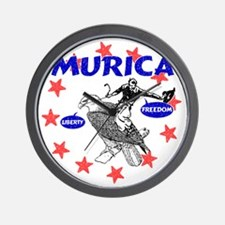 Murica Eagle and Cowboy Wall Clock
