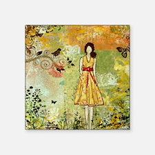 """Little Birdie- Inspirationa Square Sticker 3"""" x 3"""""""