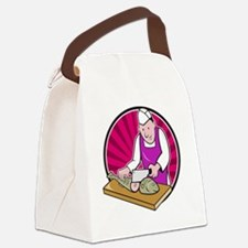 Sushi Chef Butcher Fishmonger Car Canvas Lunch Bag