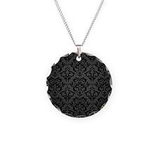 Elegant Black Flourish Necklace