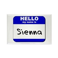 hello my name is sienna Rectangle Magnet