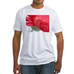 Red Gerber Daisy Fitted T-Shirt