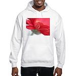Red Gerber Daisy Hooded Sweatshirt