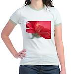Red Gerber Daisy Jr. Ringer T-Shirt