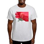 Red Gerber Daisy Light T-Shirt
