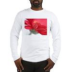 Red Gerber Daisy Long Sleeve T-Shirt