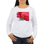 Red Gerber Daisy Women's Long Sleeve T-Shirt