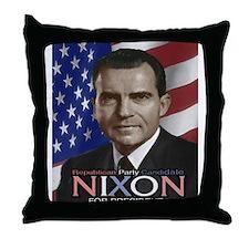 NIXON Throw Pillow