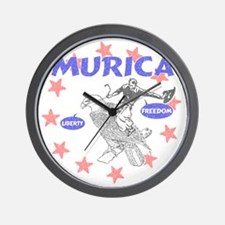 Murica Liberty and Freedom Wall Clock