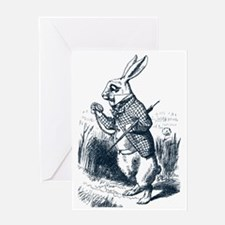 Late Rabbit Greeting Card