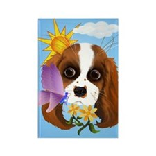 Puppy and Nature Rectangle Magnet