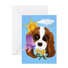 Puppy and Nature Greeting Card