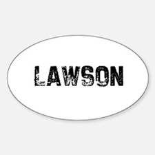 Lawson Oval Decal