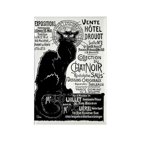 Chat Noir Black Cat Rectangle Magnet