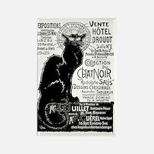 Chat Noir Black Cat Rectangle Magnet