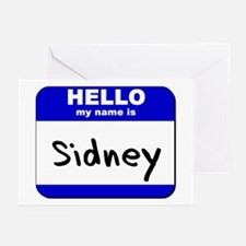 hello my name is sidney  Greeting Cards (Package o
