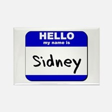 hello my name is sidney Rectangle Magnet