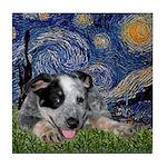 Starry-AussieCattleDogPup Tile Coaster