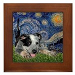 Starry-AussieCattleDogPup Framed Tile