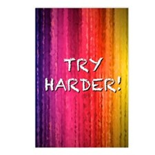 Try Harder 4X6 Postcards (Package of 8)