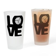 Love Volleyball Drinking Glass