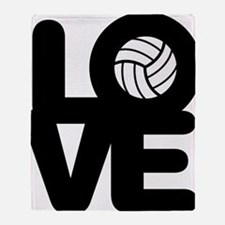 Love Volleyball Throw Blanket