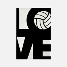 Love Volleyball Rectangle Magnet