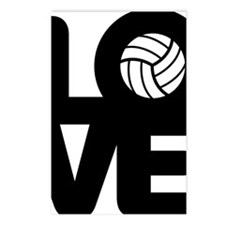 Love Volleyball Postcards (Package of 8)