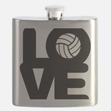 Love Volleyball Flask