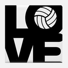 Love Volleyball Tile Coaster
