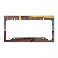 Orchard Ruler Framed Print License Plate Holder