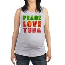 Peace Love Tuba Maternity Tank Top