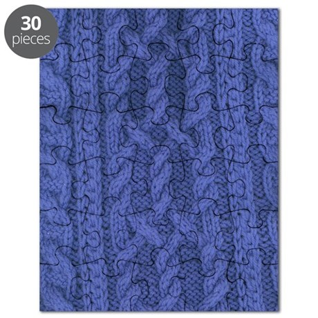 Photograph of blue knit cables Puzzle